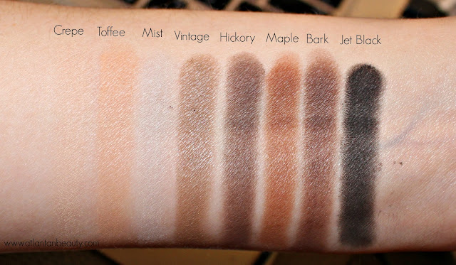 Some of the matte shadows from Lorac's Mega Pro 3
