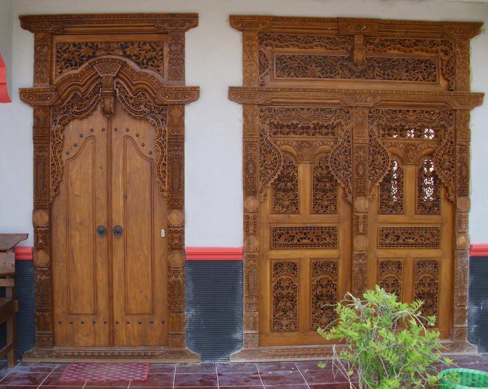 Denah Rumah Minimalis Pintu Gebyok Terbaru