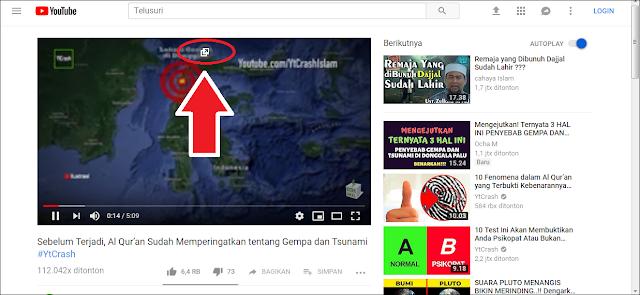 Cara Membuat Tampilan Melayang di Youtube Komputer Pop-up mengambang sambil nonton video youtube