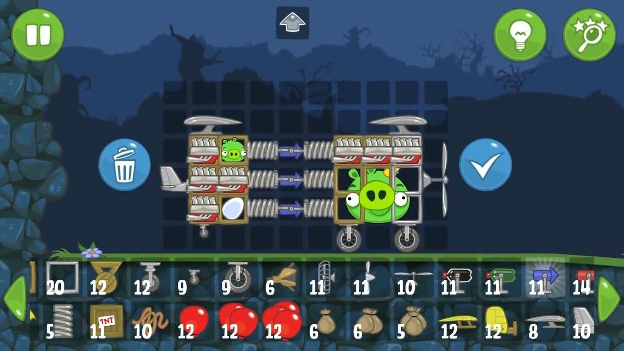 Bangun mobil kotak sepeda motor dan mesin mesin terbang dari kayu di bad piggies online 2016 permainan fisika ini menantang anda untuk menciptakan