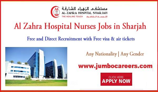 Sharjah nurse jobs for Indians, Recent jobs in Sharjah 2018,