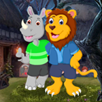 Games4King Lion And Rhinoceros Embracing Escape Walkthrough