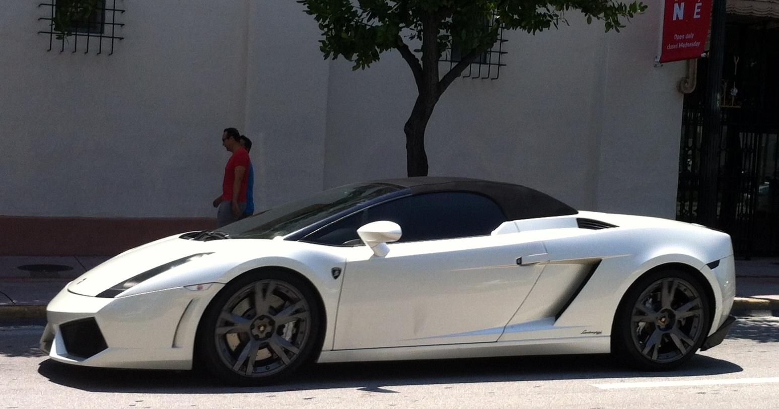 Pearl White Lamborghini Gallardo Spyder Exotic Cars On The