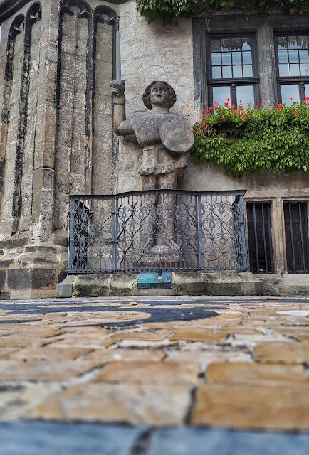 The Roland of Rathaus Quedlinburg cityhall