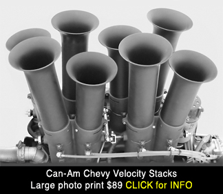 Can Am racing velocity stacks large photo print for sale