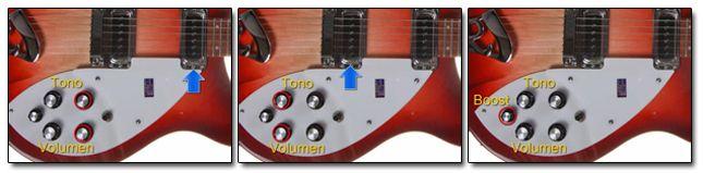 Controles de las Guitarras Rickenbacker