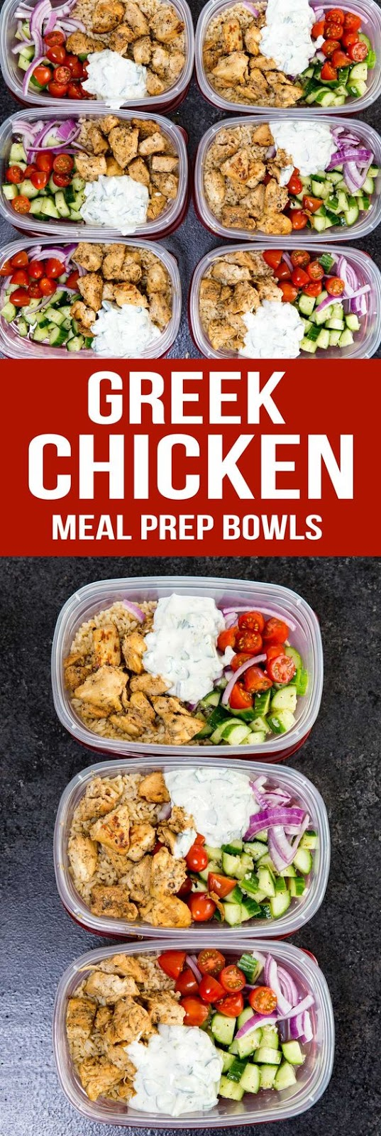 Greek Chicken Bowls (Meal Prep Easy) #greek #chicken #chickenrecipes #mealprep #easyrecipes #healthyfood #healthyrecipes #healthymeals