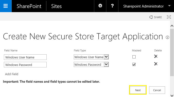 sharepoint secure store application id 2013