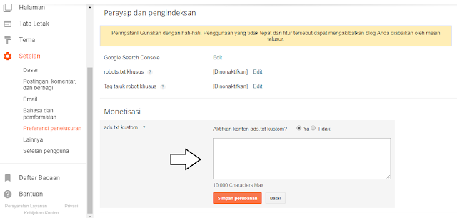 Cara memasang file ads.txt Google Adsense pada Blog