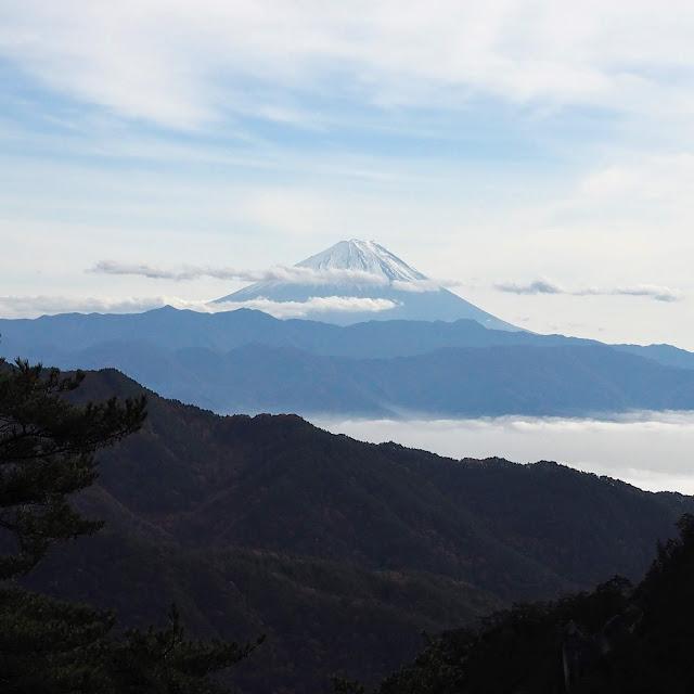 昇仙峡 山頂 富士山