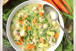 Paleo Whole30 Chicken Pot Pie Soup Recipe