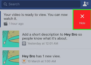 How Do I Delete/Clear A Facebook Notification