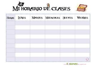 horario de colegio de piratas para primaria