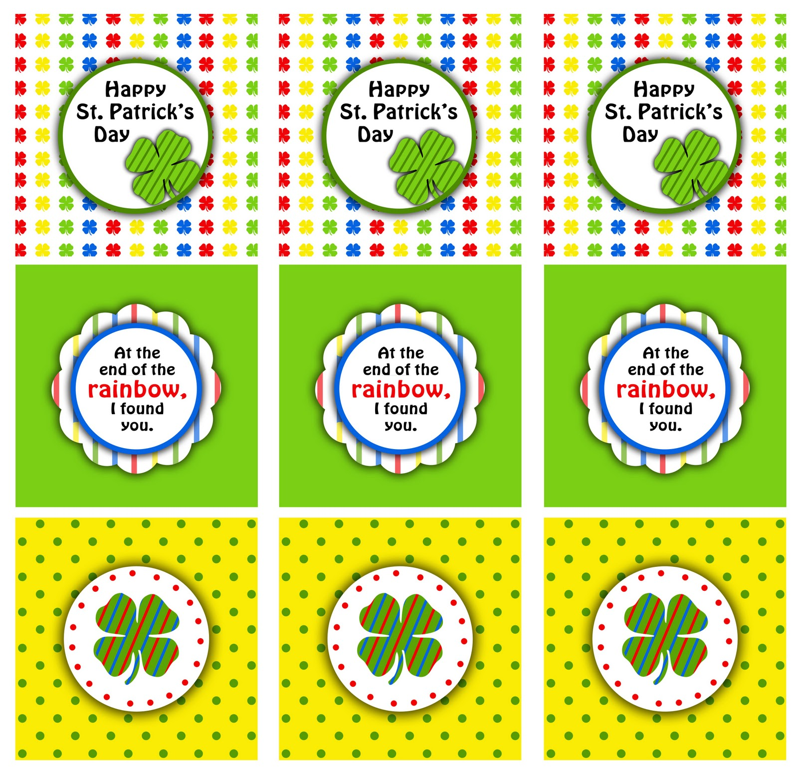 St Patricks Day Treat Bag Toppers Darling Doodles