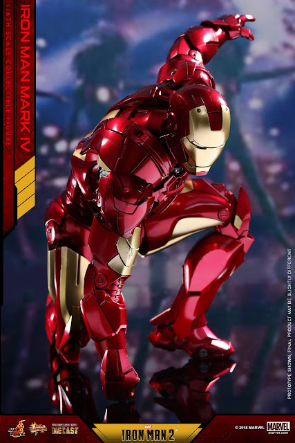 "osw.zone Hot Toys Diecast Iron Man 2 - 1 / 6th Scale Mark IV 12 ""(32cm) Collectible Figurine Preview"
