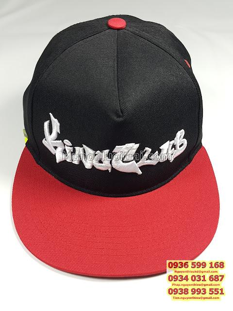 Theu logo non thoi trang theu logo non ket theu logo non hiphop theu logo non snapback theu logo