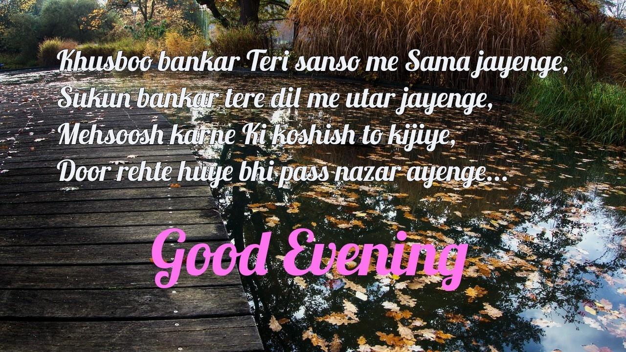 beautiful good evening love shayari image