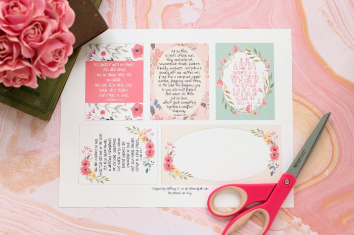 graphic about Free Printable Journaling Cards named PitterAndGlink: Free of charge Printable Scripture Verse Journaling Playing cards