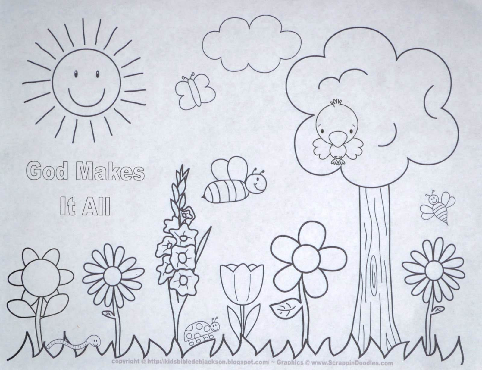 Bible Fun For Kids God Makes Flowers And Plants Preschool