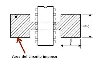 Área de cobre para el disipador de calor del L293.