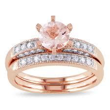 Rose Gold Wedding Rings Set