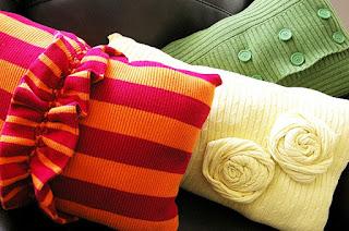 cuscini riciclando vecchio maglione