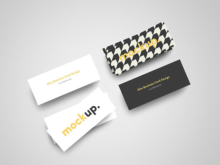 Slim Business Card Mockups