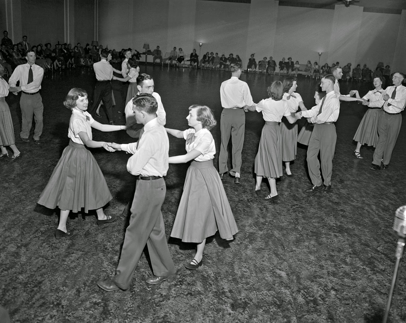 Where did square dancing originated