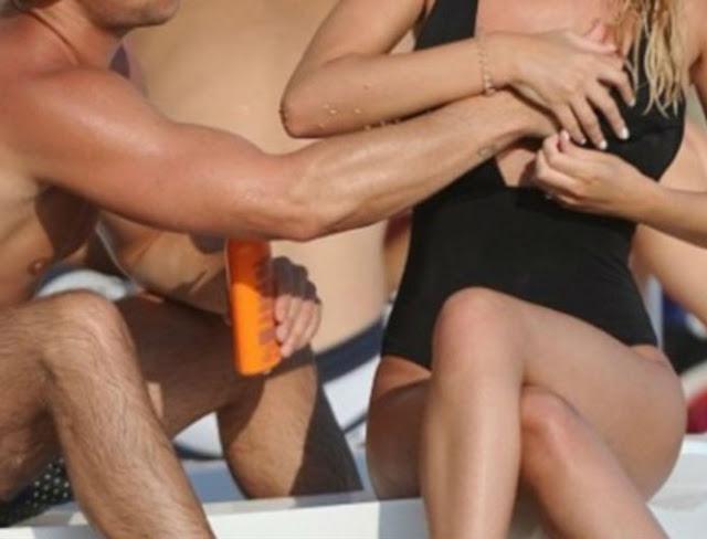 Πασίγνωστος ηθοποιός χούφτωσε μπροστά σε όλους την σύντροφο του στην παραλία!