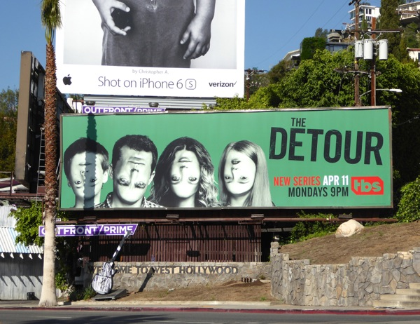 The Detour series premiere billboard
