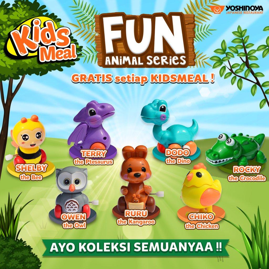 Yoshinoya - Gratis Fun Animal Series Setiap Pembelian KidsMeal