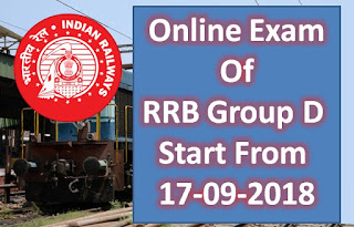 RRB Group D Exam Date Out