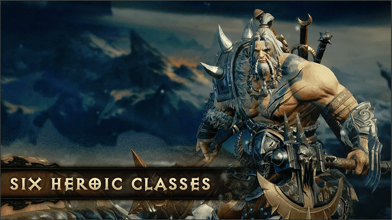 It will have 6 different character classes including the Barbarian