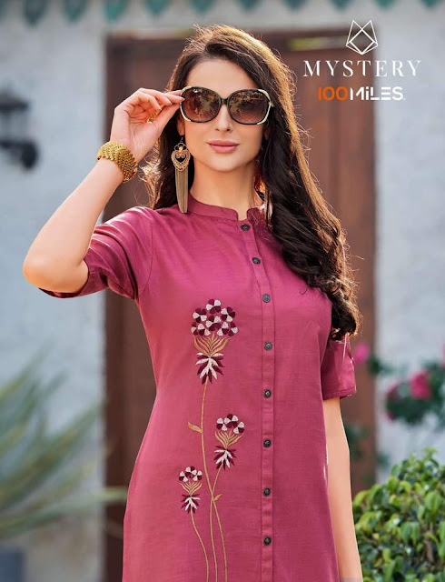 100 Miles Mystery Cotton Kurtis Catalog