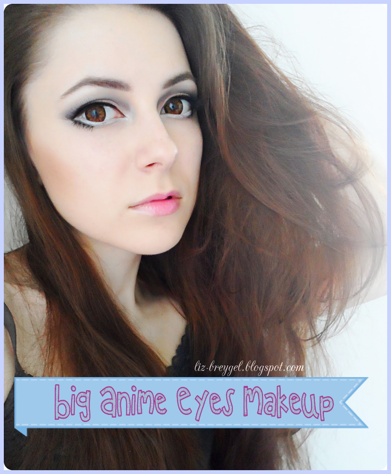 Big anime eyes step by step makeup tutorial