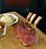 Καρέ μοσχαριού με τσιπς και πουρέ σελινόριζας - by https://syntages-faghtwn.blogspot.gr