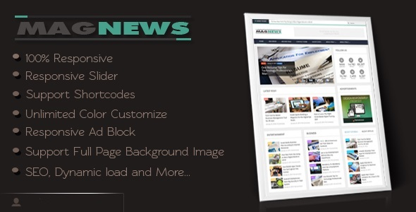 MagNews Blogger Template Free Download
