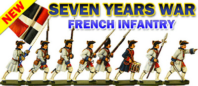 Seven Years War French Infantry moulds released Dec 2016.