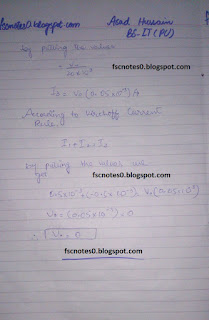 F.Sc ICS Notes: Physics XII: Chapter 18 Electronics Numerical Problems by Asad Hussain 5
