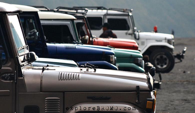 Jeep Bromo, transportasi wisata di bromo