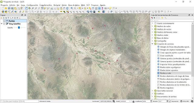 Como generar rutas o lineas con puntos