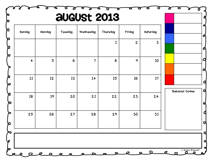 Editable behavior clip chart calendars for also the first grade scoop flash freebie they  re here rh thefirstgradescoopspot