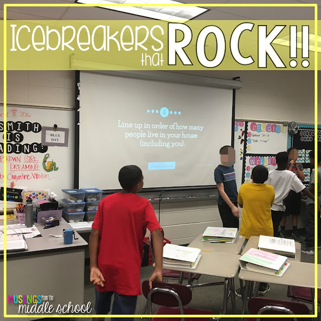 Fun icebreakers do with big kids on the first day of school.