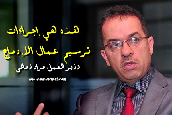 وزير العمل : وفق هذه الإجراءات سيتم ترسيم 360ألف عامل إدماج