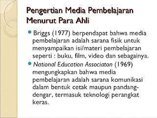 Definisi Media Pembelajaran Menurut Para Ahli