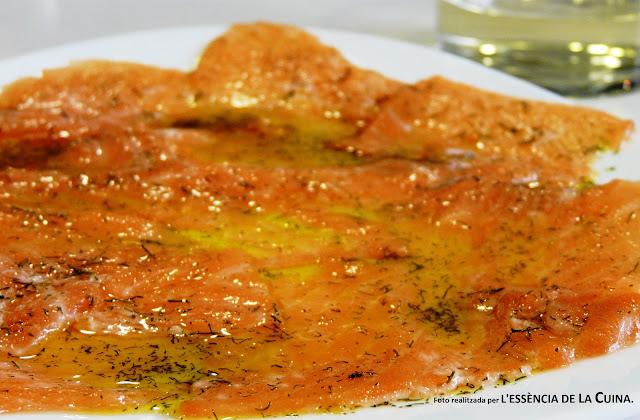 Carpaccio-Salmo, Salmon, Carpaccio-Salmon, Aperitiu, L'Essencia-de-la-cuina, Blog-de-la-Sonia