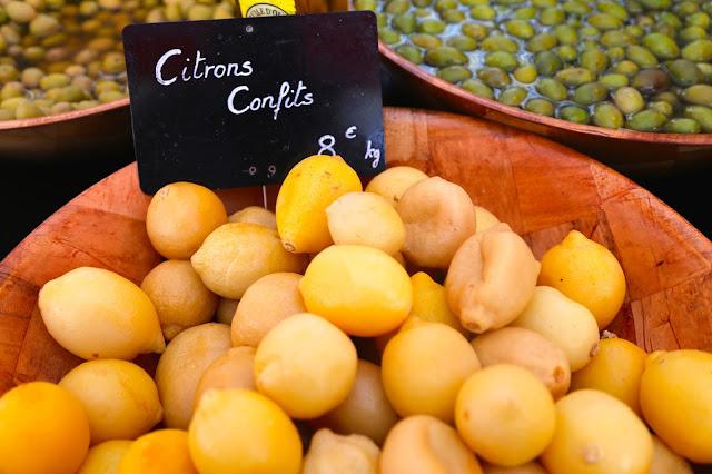 citron confit, Sète market, languedoc, france