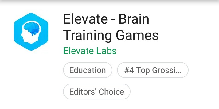 Elevate - Brain Training App for Data Scientist