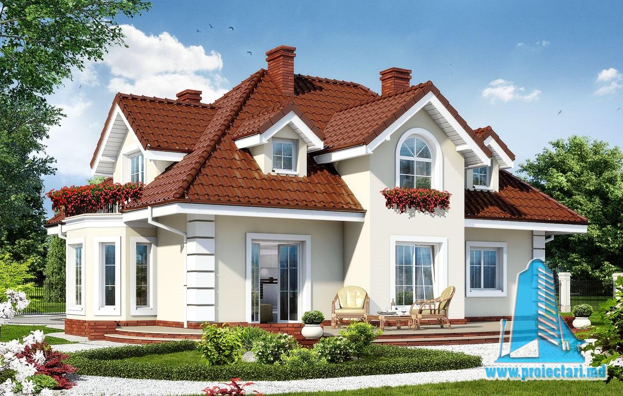Proiecte de case proiect de casa cu parter mansarda si for Planuri de case
