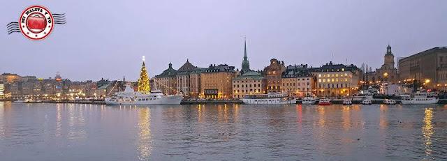 Vistas desde Skeppsholmen, Estocolmo, Suecia